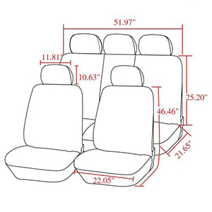 Car Seat Cover Set by Auto Youth