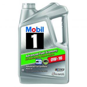 0W-16 Advanced 5L Mobil 1 Full Synthetic Motor Oil