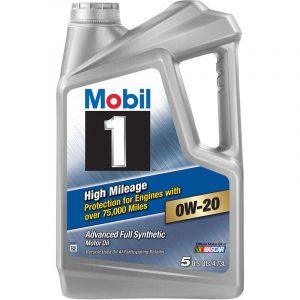 0W-20 High 5L Mobil 1 High Mileage 75,000 miles