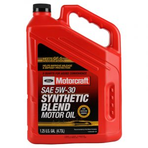 Motorcraft 5w-30 Premium Synthetic blend Motor Oil