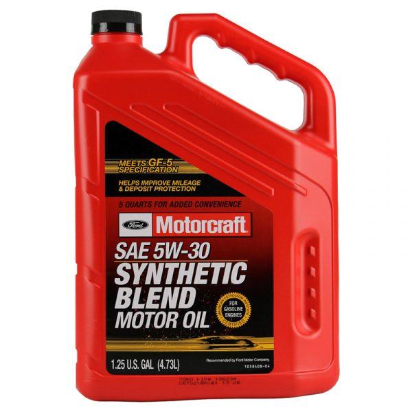 Motorcraft 5w-30 Premium Synthetic blend Motor Oil
