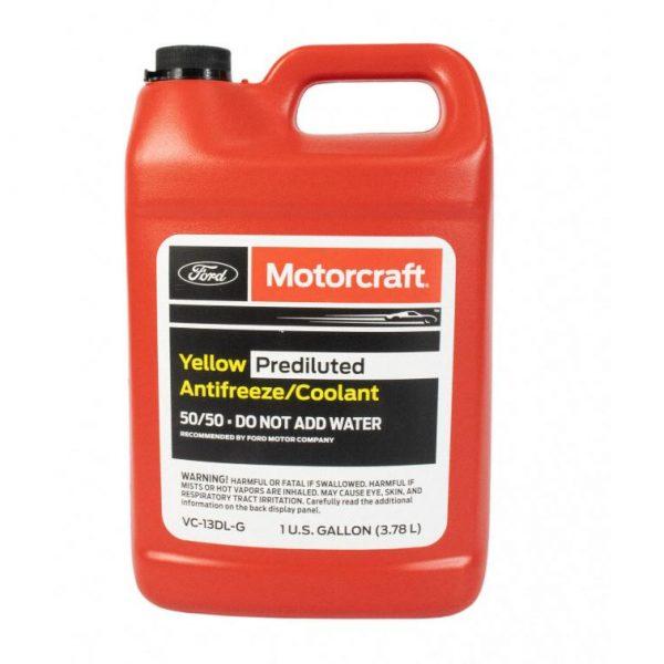 Motorcraft Yellow Prediluted Antifreeze 50/50 Coolant 4 litres