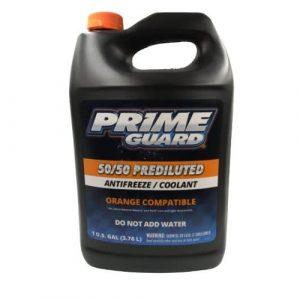Prime Guard Prediluted Orange Antifreeze 50/50 Coolant 4 litres