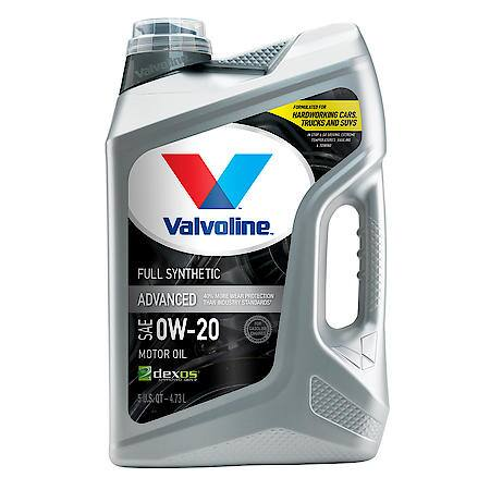 Valvoline 0W-20 Advanced Full Synthetic Motor Oil, 5 Quart